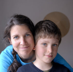 Mother with her 8 year old son.